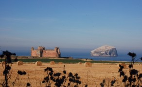 Tantallon Castle and Bass Rock