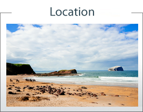 Located On Sealiff beach over looking Bass Rock